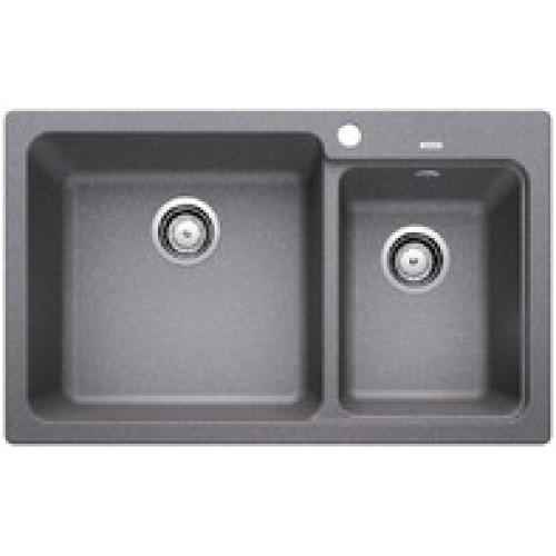 BLANCO NAYA 8(519648) Granite composite sink(alu metallic)