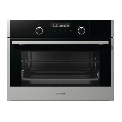 GORENJE BCS547S23X 45CM 50L Built-in Compact Combination Oven Free Gift:GORENJE COOKBOOK