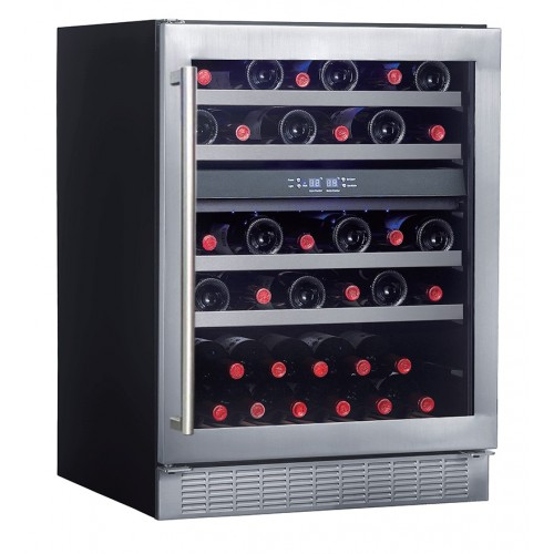 CRISTAL CW-45DES-1 Double Temperature Zone Wine Cooler(45 Bottles)
