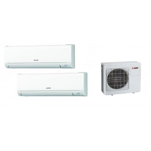 三菱 一拖二 1匹+2匹室內機+3匹室外機 變頻冷暖多聯式分體冷氣機