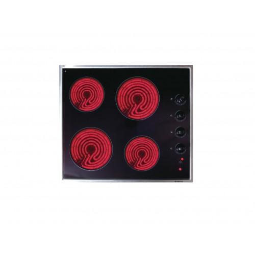 Cristal 尼斯 PR58BX 58cm 4-Zone Electrical Hob
