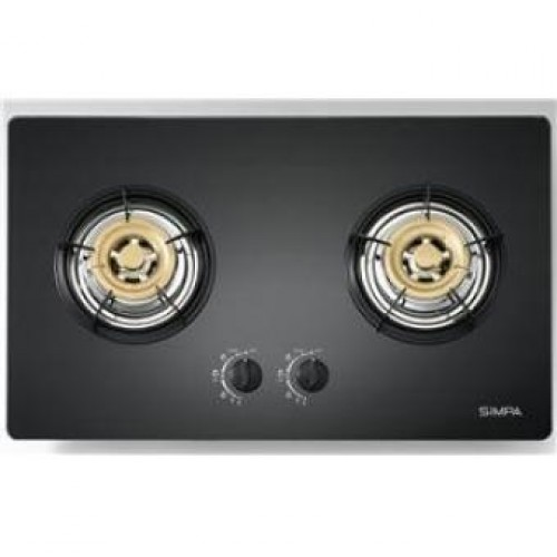Simpa SUZB62-G TG 75cm Built-in 2-Burner Town Gas Hob