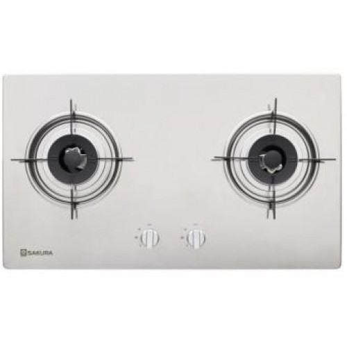 Sakura SG-2630 TG 75cm Built-in 2-Burner Town Gas Hob