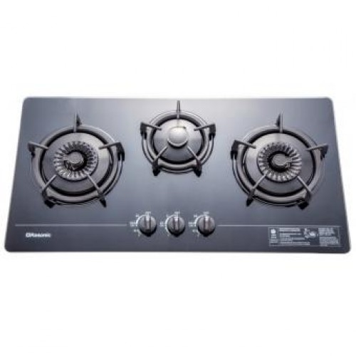 Rasonic RG-323GB TG Built-in 3-Burner Town Gas Hob