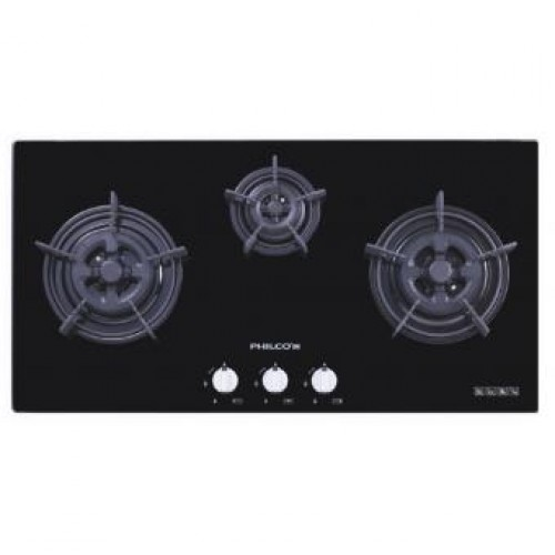 PHILCO PH3863B Built-in 3-burner Town Gas Hob