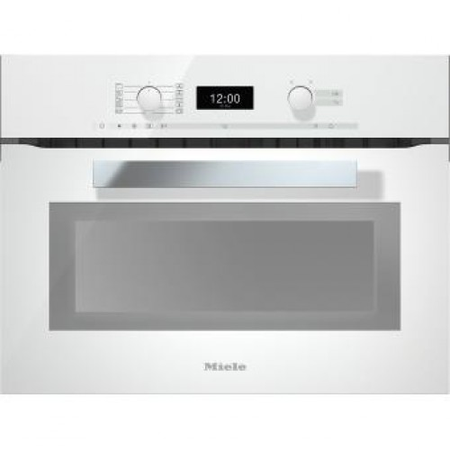 Miele H6400BM Built-in Microwave with Oven (White)