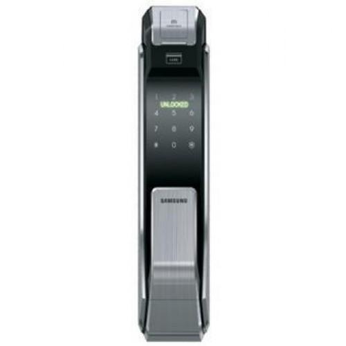 SAMSUNG SHS-P718LMKEN Fringerprint/Password/RF-Card Smart Door Lock(Silver)