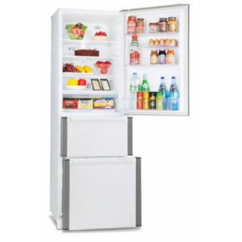 MITSUBISHI MR-CD41H-PWH 335L FRENCH DOOR REFRIGERATOR