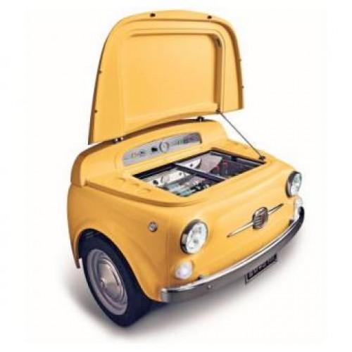 SMEG SMEG500G 100公升 迷你吧櫃 (黃色)