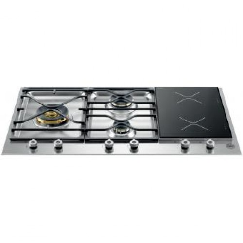 Bertazzoni PM36 3 I0 X   90cm Built-in 3-burner Town Gas Hob With Induction Hob