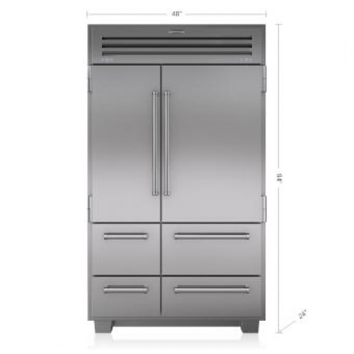 Sub Zero PRO48 648PRO SOLID DOOR Pro Series Side by Side Refrigeration