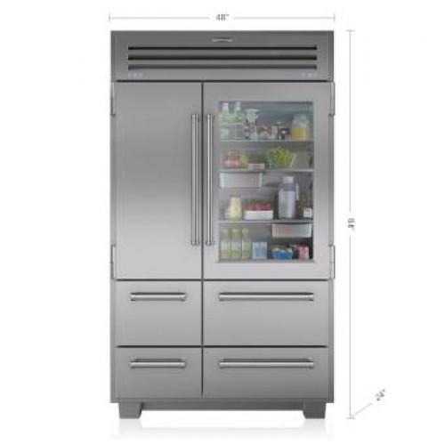 Sub Zero PRO48 648PROG GLASS DOOR Pro Series Side by Side Refrigeration
