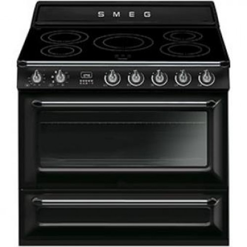 Smeg TR90IBL Victoria Aesthetic 90cm Multifunction Oven With 5-zone Induction Hob