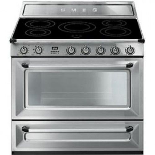 Smeg TR90IX Victoria Aesthetic 90cm Multifunction Oven With 5-zone Induction Hob
