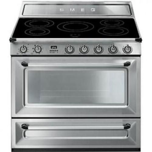 Smeg TR90IX Victoria Aesthetic 90厘米多功能焗爐連五頭電磁煮食爐