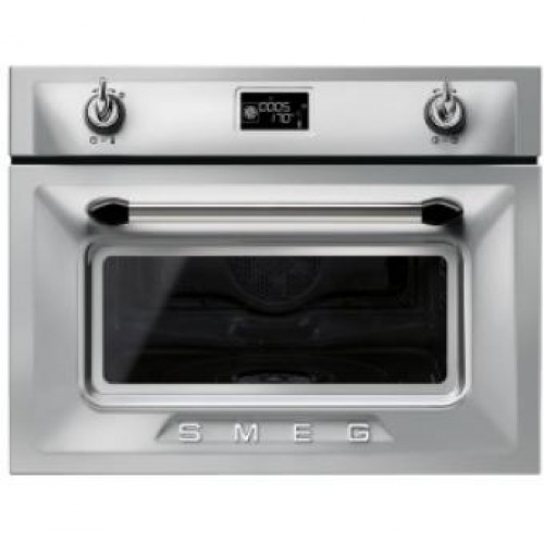 Smeg SF4920VCX Victoria Aesthetic Built-in 60cm Compact Combi Steam Oven