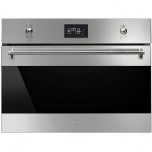 Smeg SF4390VCX Classic Aesthetic 60cm Built-in Compact Combi Steam Oven,