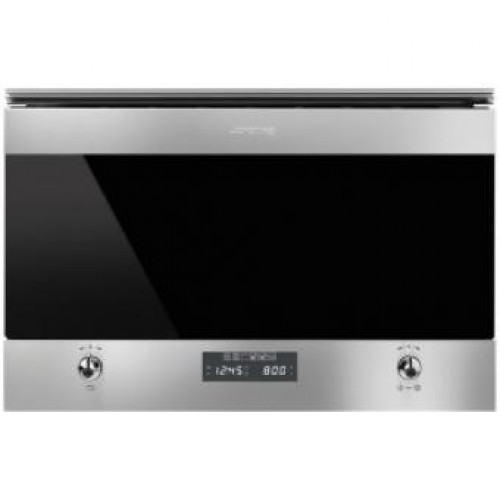 Smeg MP6322X Classic Aesthetic 60cm Built-in Microwave Oven With Grill