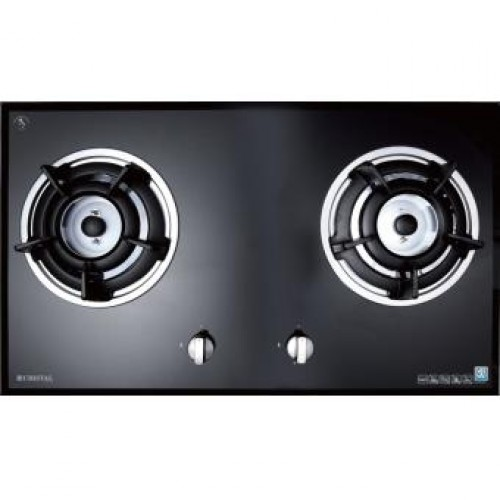 Cristal G7206ABT-1 TG 75cm Built-in 2-Burner Town Gas Hob