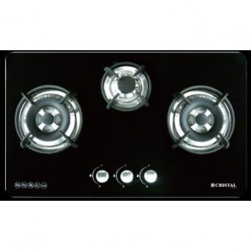 CRISTAL G7301DWT-1 TG 86cm Built-in 3-Burner Town Gas Hob