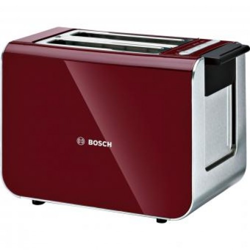 Bosch TAT86104GB Stainless steel / Plastic body Compact toaster
