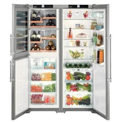 Liebherr SBSes7165 Side by Side Double Temp. Zone Wine Coolers & Freezer